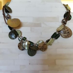 """Jewelry - Necklace / Beads/Shells / Leather String / 36"""""""